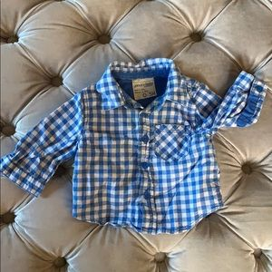 Blue Gingham Sport Shirt (0-3 months)